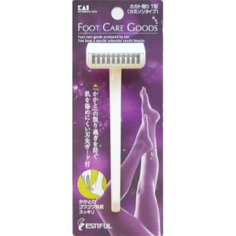 例示する知恵薬局貝印HB0305 カカト削りT型(カミソリタイプ)【6個パック】