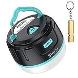 LEDランタン USB充電式 ランタン Sinrai 大容量5200mAh モバイルバッテリー IP65防水&防塵 5つ調光モード マグネット式 アウトドア&防災用品 【196ルーメン/連続点灯50時間】 (ブルー)