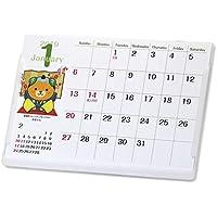 愛媛県イメージアップキャラクターみきゃんポストカードサイズ卓上カレンダー
