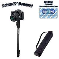 Professional 72インチHeavy Duty Monopod Withデラックスソフトケースfor the Sonyアルファdslr-a380、dslr-a700、dslr-a900+独占無料スーパーDealマイクロファイバーレンズクリーニングクロス