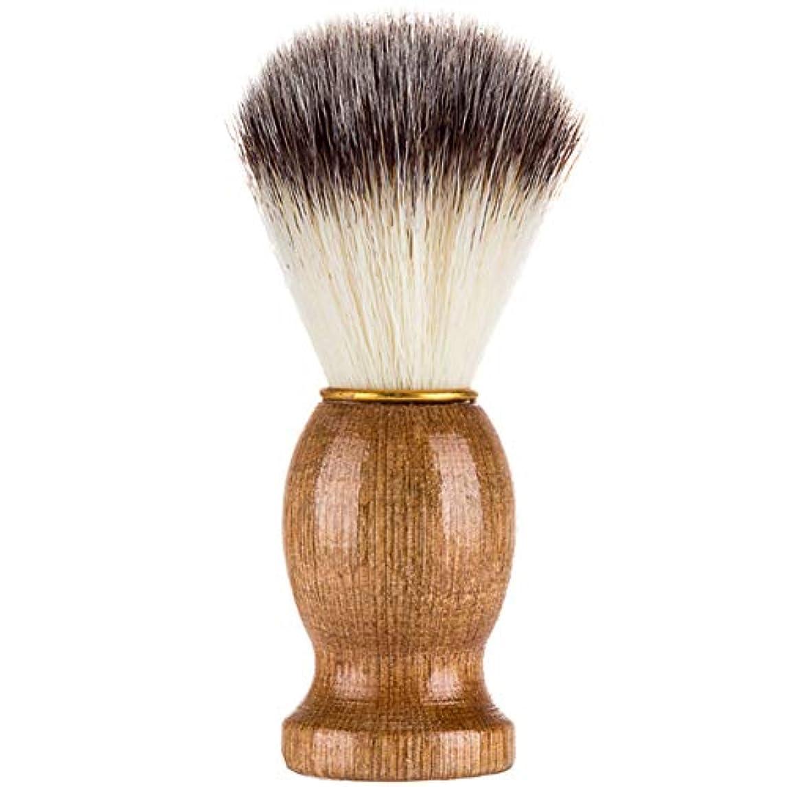 柱振るうヘアCoolTack シェービングブラシ、シェービングブラシ、男性シェービングブラシシェービングかみそりブラシサロン理髪店用ツールひげ剃り用品