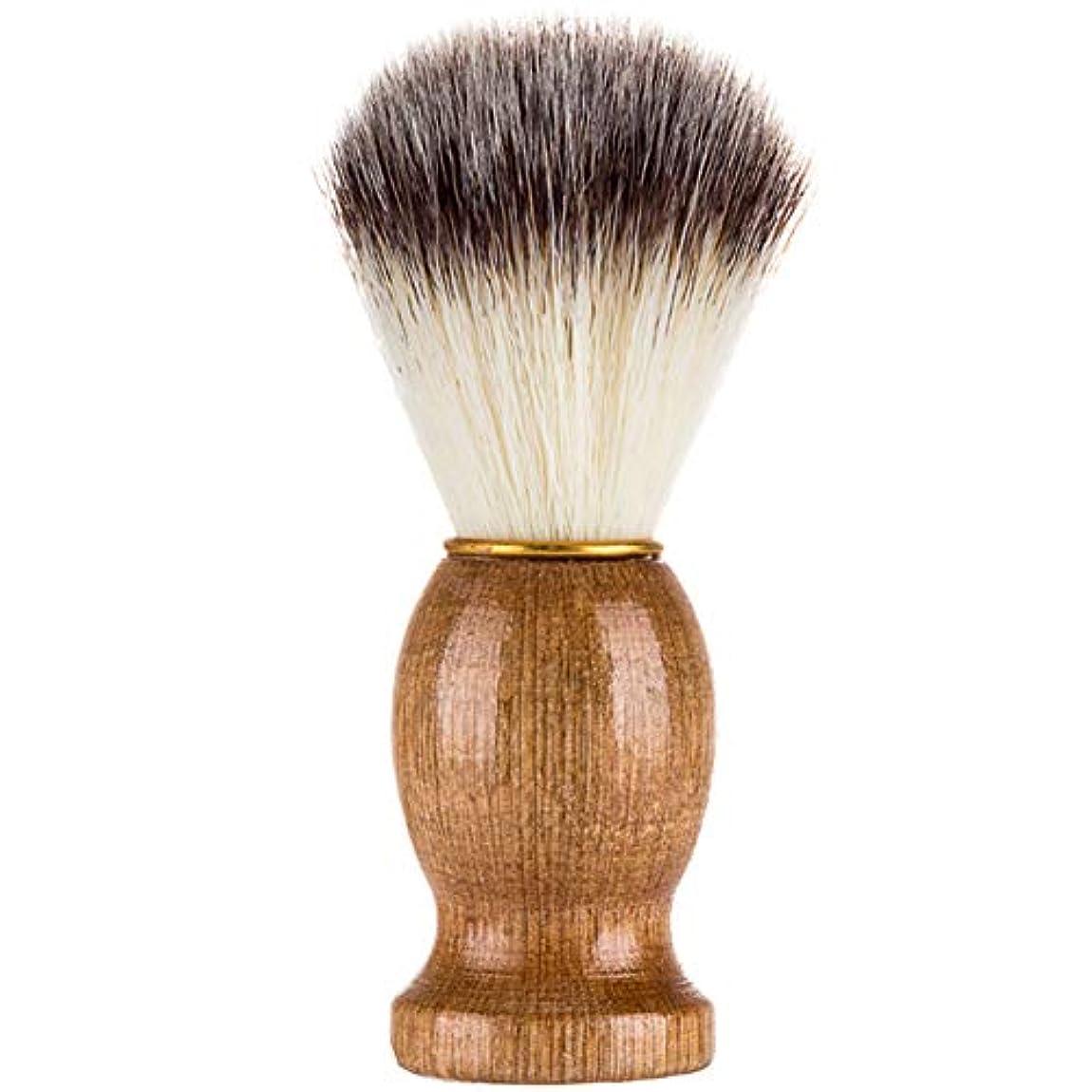 タフオーバーラン手入れFuntoget シェービングブラシ、シェービングブラシ、男性シェービングブラシシェービングかみそりブラシサロン理髪店用ツールひげ剃り用品
