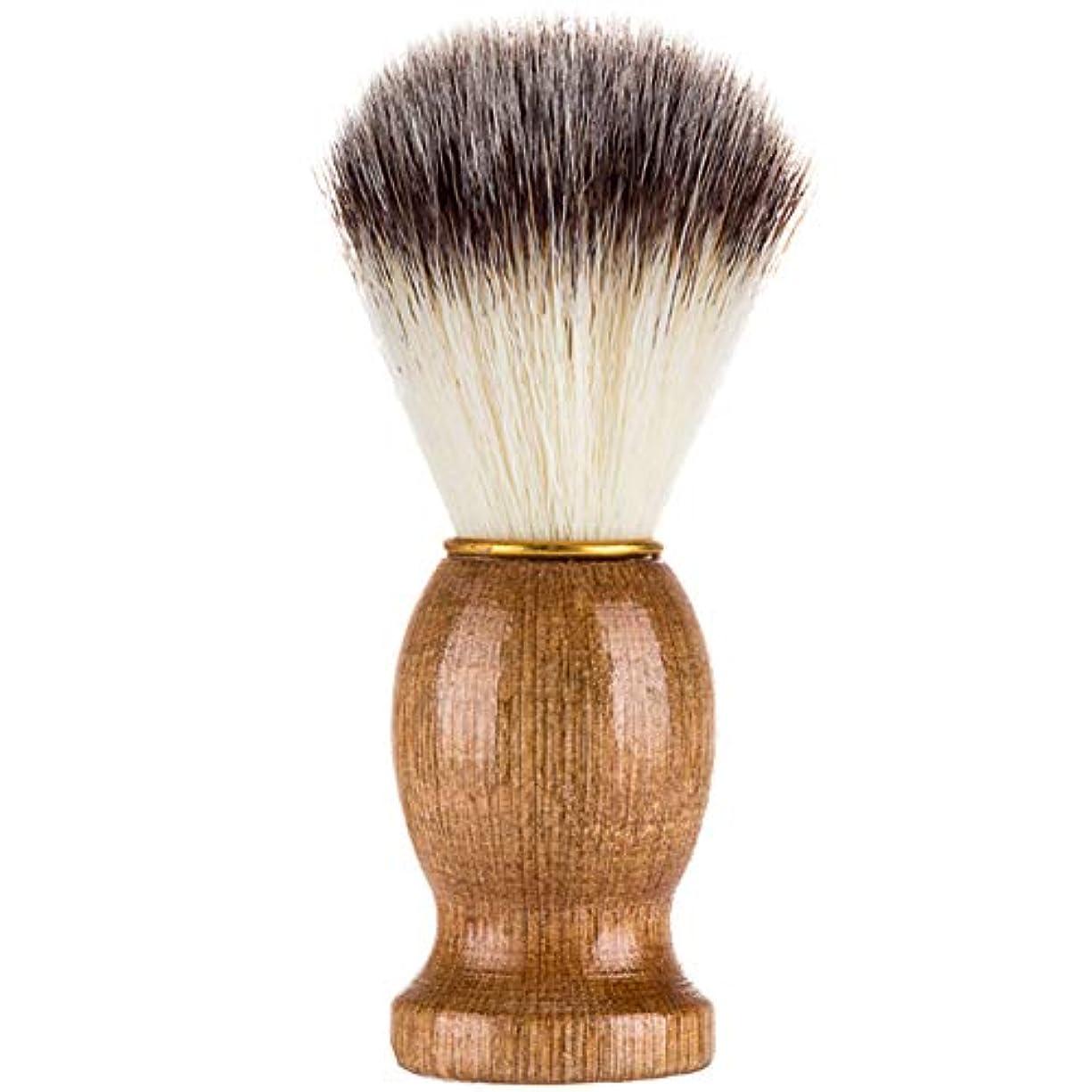 雰囲気蓄積するアスレチックTenflyer シェービングブラシ、シェービングブラシ、男性シェービングブラシシェービングかみそりブラシサロン理髪店用ツールひげ剃り用品
