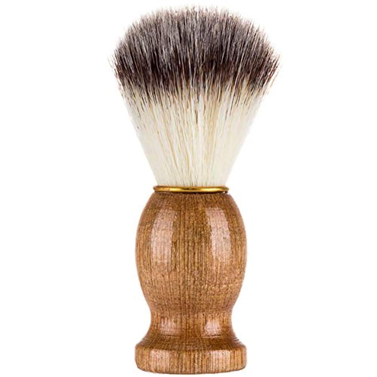 ボイドリファイン従事するProfeel シェービングブラシ、シェービングブラシ、男性シェービングブラシシェービングかみそりブラシサロン理髪店用ツールひげ剃り用品