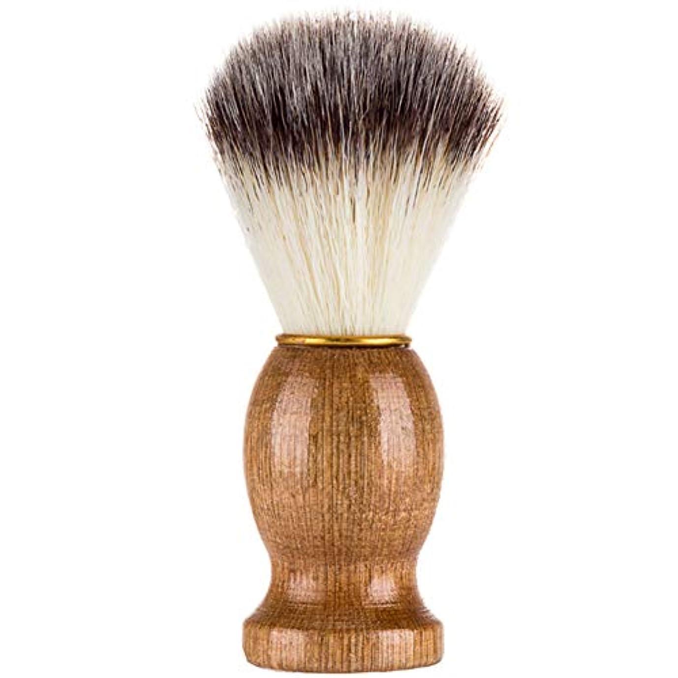 記者因子食欲Profeel シェービングブラシ、シェービングブラシ、男性シェービングブラシシェービングかみそりブラシサロン理髪店用ツールひげ剃り用品