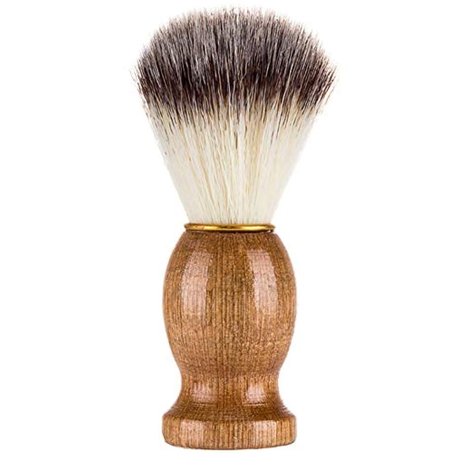 文言海外おかしいProfeel シェービングブラシ、シェービングブラシ、男性シェービングブラシシェービングかみそりブラシサロン理髪店用ツールひげ剃り用品