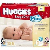 Huggies Snug & Dry Diapers - Size 1 S, 312ct (2 x 156ct) 8-14lb, ハギーズ  ぴったりドライ サイズ1 (4-6kg) 156枚 2箱 計 312枚 《ハワイからお届け》