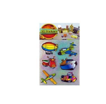 Bulk Buys HC305-72 3D Transportation Stickers by 3D Stickers