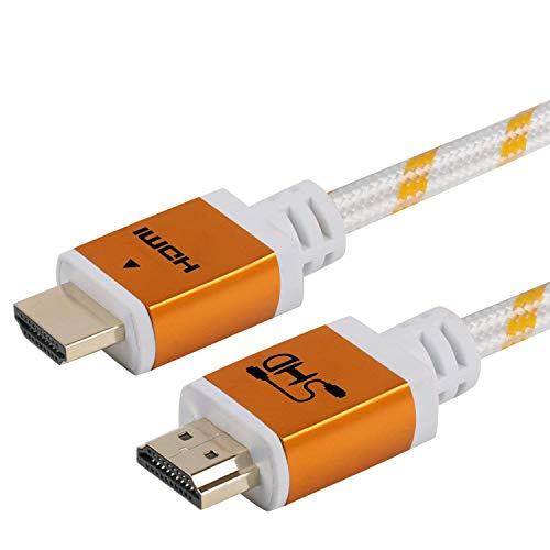 SHD ハイスピード HDMIケーブル Ver2.0(2.0規格)18Gbps 4K/3DフルHD/イーサネット/テレビ,PS4/3/Xbox/Nintendo Switch/Apple TV/Fire TVなど適用 3m(金)