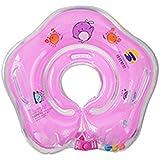 [stallion]ベビー浮き輪 花型 赤ちゃんうきわリング 赤ちゃん うきわ 浮輪 リング 首浮輪 お風呂 水遊び プール スイム スイマー ベビー ベビーバス こども プレスイミング 知育 (ピンク)