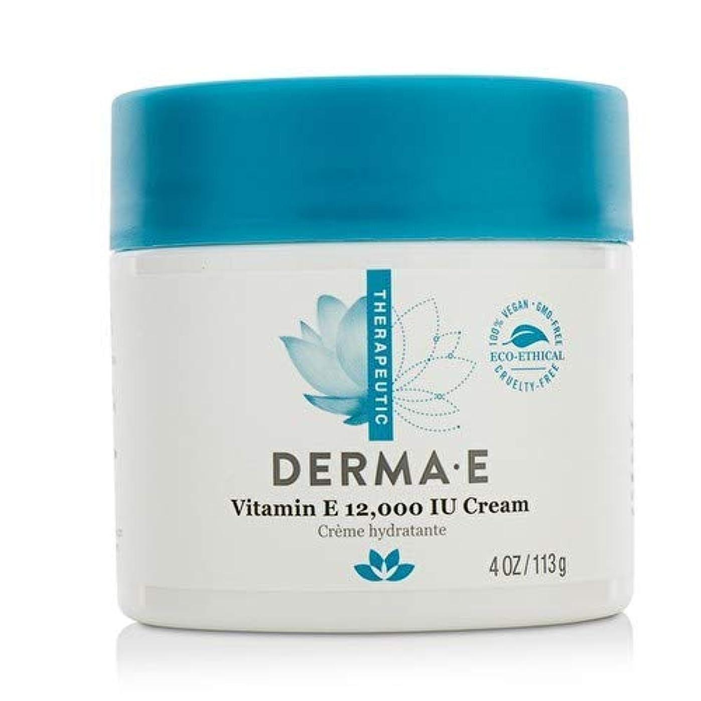 記念品トークン微視的Derma E Therapeutic Vitamin E 12,000 IU Cream 113g/4oz並行輸入品