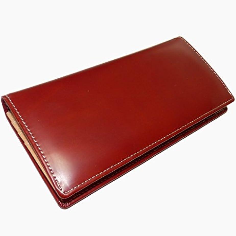 シティオーディションファシズム[ユナイテッド オム]   かっこいい大人の長財布 (イタリアンレザー×国産ヌメ革UHP-002) (マルーン)