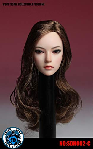 OBEST 1/6フィギュア用アクセサリー/ フィメール 西洋人1/6 ヘッド 女性の頭部 (SDH002-C)