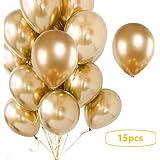 【Big Hashi 】パーティー、新年、結婚式、記念日、風船光沢ラテックスゴールドバルーン パーティー飾り(jinguang-012)