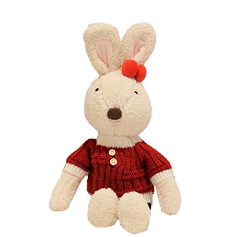 lotus.フラワーKawaii Plush Bunny、愛らしいStuffed Animal Toys Cuddly Collectible Dolls親子インタラクティブProp子供大人ファーファPal理想的なギフトホームDecor 30cm flower-2342