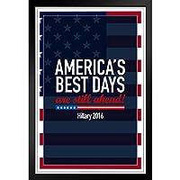 ぶら下げ絵画 - ヨーロッパとアメリカのスタイル壁画 - アメリカズベストデイズスティルアヘッドヒラリークリントン2016民主党大統領選挙 - 装飾美術の絵画-28x23cm