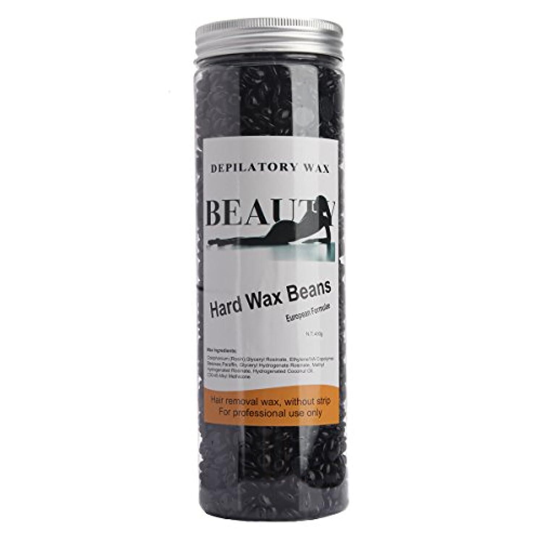 代わりにを立てる証書懲戒(アーニェメイ)Bonjanvy ハードワックスキット 400g 1缶 ブラジリアンワックス デリケートゾーン 鼻毛 脱毛ワックス-ブラック