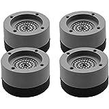 SODIAL 4 PCS Foot Pads Washing Machine Anti Vibration Washer Feet Pad Anti Slip Rubber Foot Pad for Washing Machines and Drye
