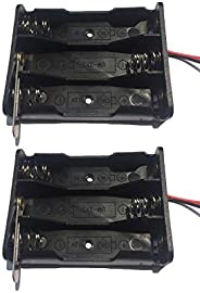 Ecool Battery Case Battery Holder Battery Box Wire 3 AA Pack of 2