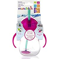 Straw Cup - Munchkin - Click Lock 7oz Weighted Pink New