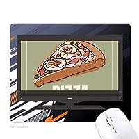 ピザのスライスイタリアシーフーズ ノンスリップラバーマウスパッドはコンピュータゲームのオフィス