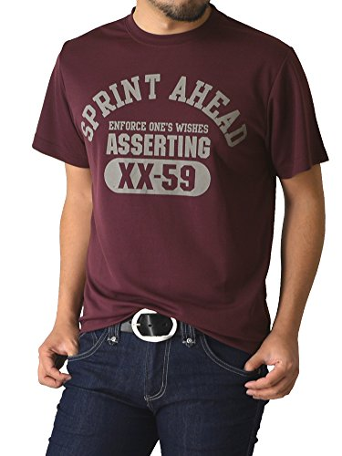 (リミテッドセレクト) LIMITED SELECT P2 Tシャツ メンズ 半袖 吸汗速乾 ドライメッシュ アメカジ ミリタリー RQ0725 L F ワイン2柄