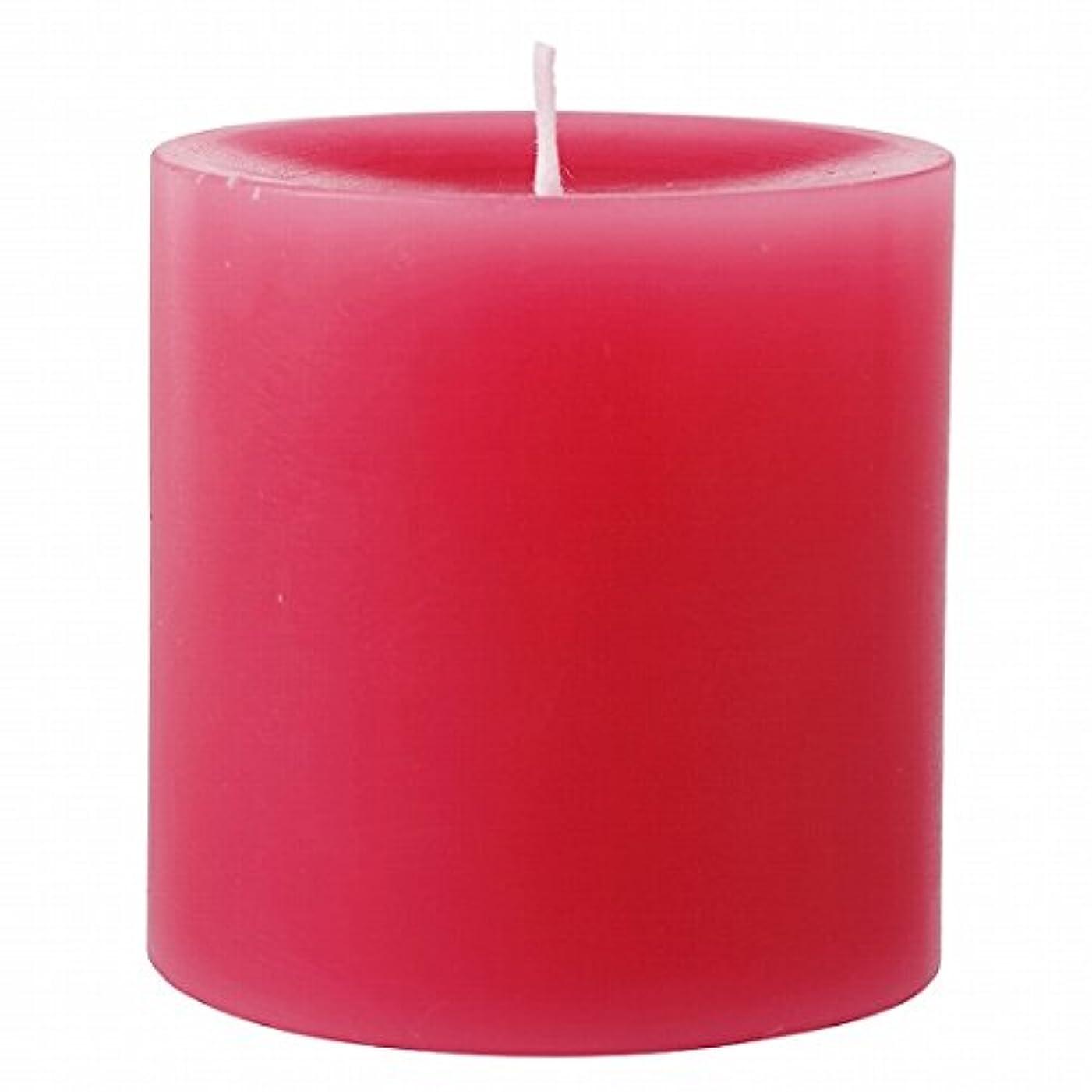 泣くアンペア減少カメヤマキャンドル( kameyama candle ) 75×75ピラーキャンドル 「 ダークピンク 」