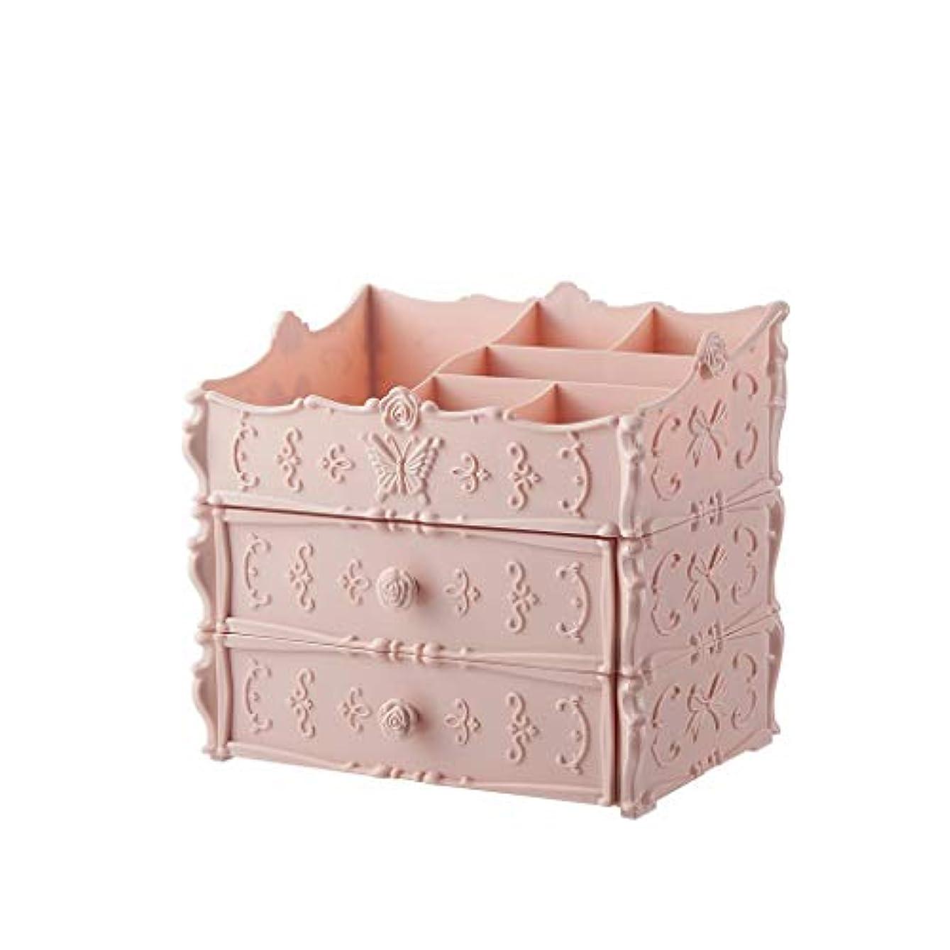元気な原子ミニ化粧品収納ボックスドレッシングテーブルデスクトップスキンケア製品 (Color : A)