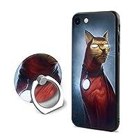 苹果7/8 Plus 猫 ケース リング付き フロッグ アイフォン シリコン 衝撃防止 高級感 薄型 携帯カバー 人気NO.1 男女兼用