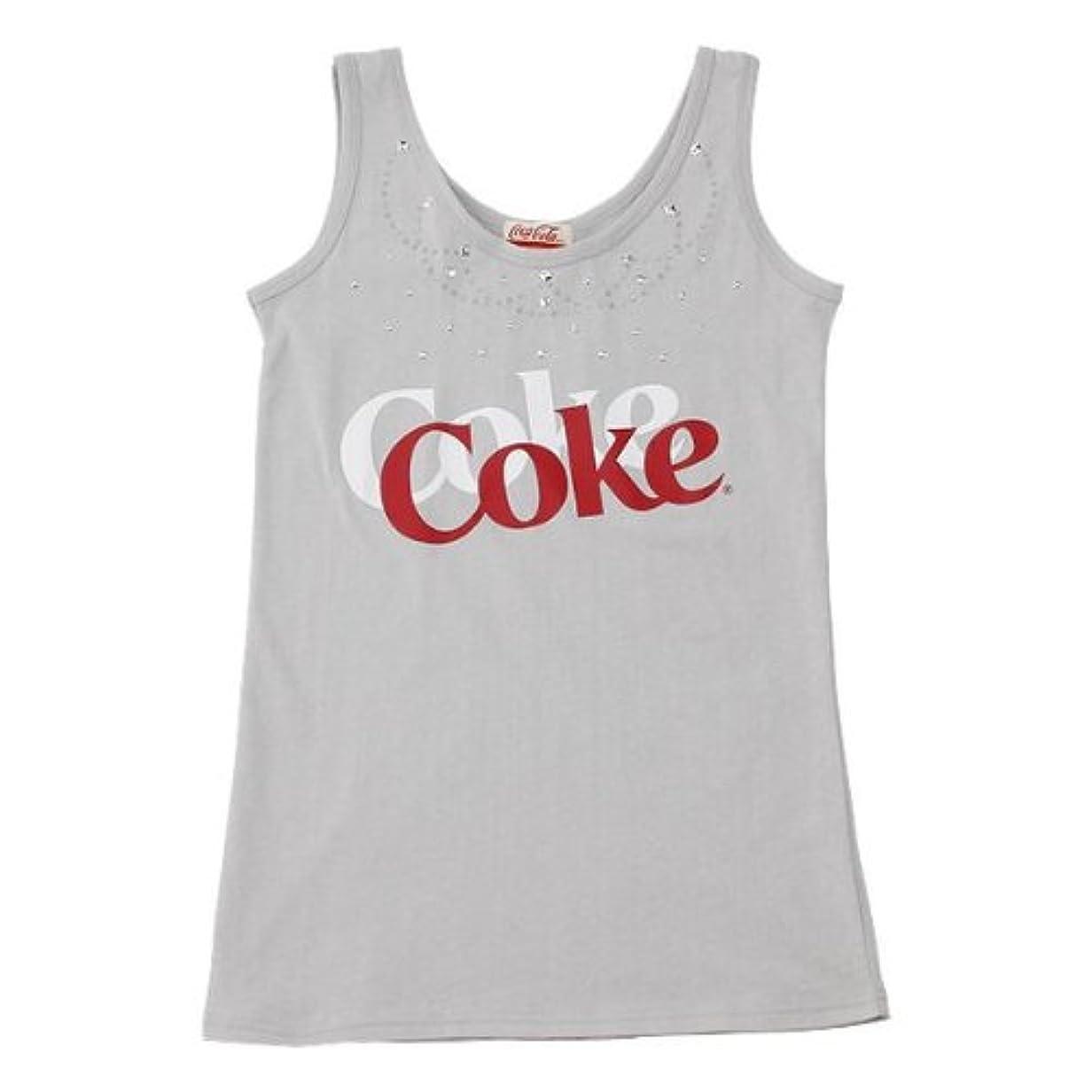 基礎理論難破船スラム街Coca-Cola(コカ?コーラ) レディーススタッズタンクトップ