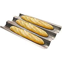 フランスパン型 フランスパン天板3個付 パン作り パン道具 ハード系パン(26.8 * 24.1cm) FBA