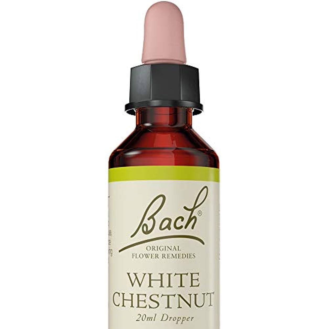 今晩高齢者集中的なバッチフラワー ホワイトチェストナット アルコールベース 20ml