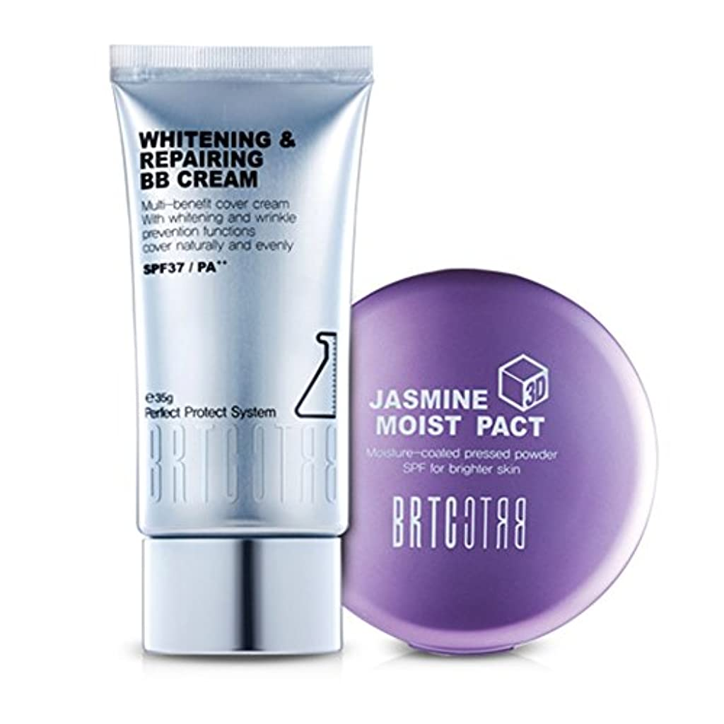 土曜日の頭の上木【BRTC/非アルティ時】Whitening&Moisture Make Up Setホワイトニングビビ水分ファクト35g 13g[BB Cream+ Moist Pact Set](海外直送品)