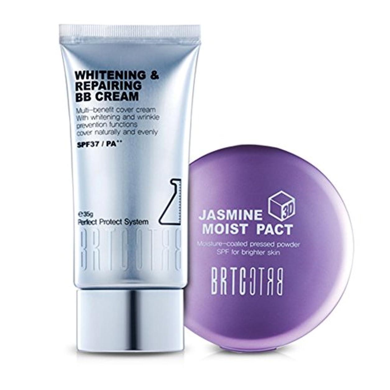 突き出す精神的に帝国主義【BRTC/非アルティ時】Whitening&Moisture Make Up Setホワイトニングビビ水分ファクト35g 13g[BB Cream+ Moist Pact Set](海外直送品)