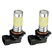 LEDフォグライト 車用ランプ フォグランプ LEDバルブ 12V-24V DC 6000k 全5サイズ - H10