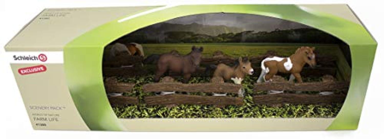 シュライヒ ファームワールド Three foals フィギュア 41385