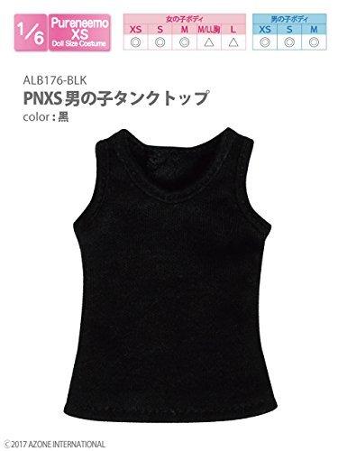 ピュアニーモ用ウェア PNXS男の子タンクトップ 黒 (ドール用)