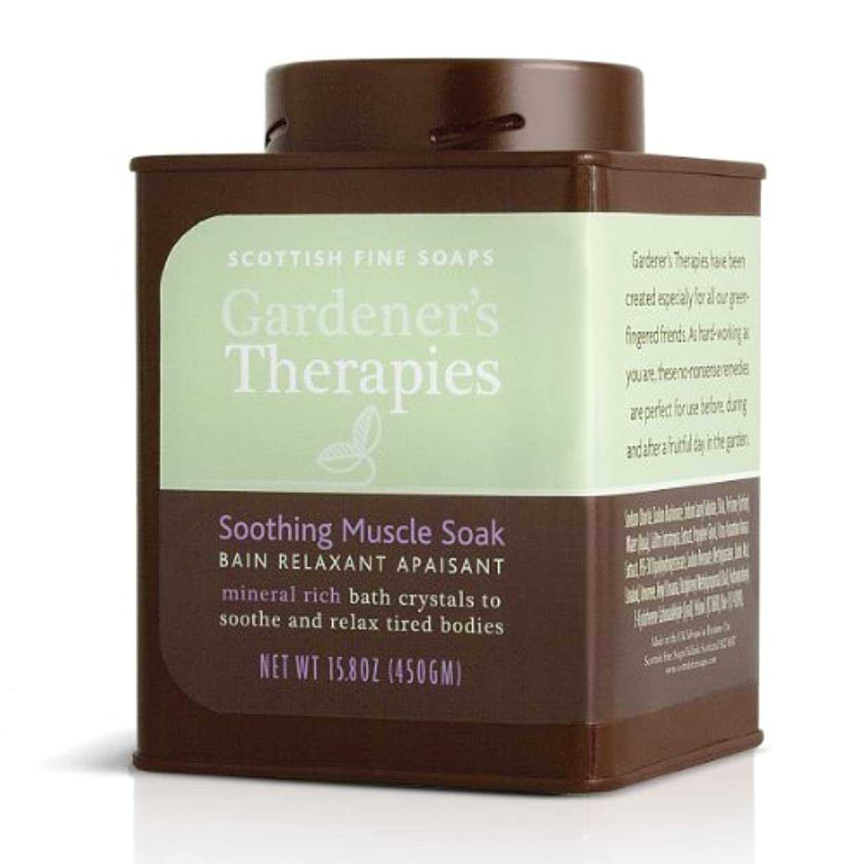 側溝動く拍手SCOTTISH FINE SOAPS(スコティッシュファインソープ) Gardener's Therapies(ガーデンセラピーシリーズ) リラクシングバスパウダー 500g 5016365005548