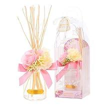 サンハーブ ルームフレグランスフラワー ピュアローズ 100ml(芳香剤 花かざり付 うっとり幸せなばらの香り)