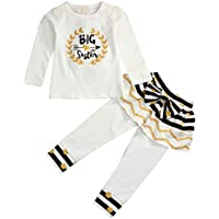 Younger star Newborn Little Sister Baby Little Girls Skirts Leggings Pants Gifts Outfits Set