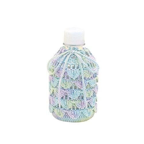 オリムパス製絲 編み物キット エミーグランデ ロマンティックレース しずく模様のペットボトルケース 280ml EG-98