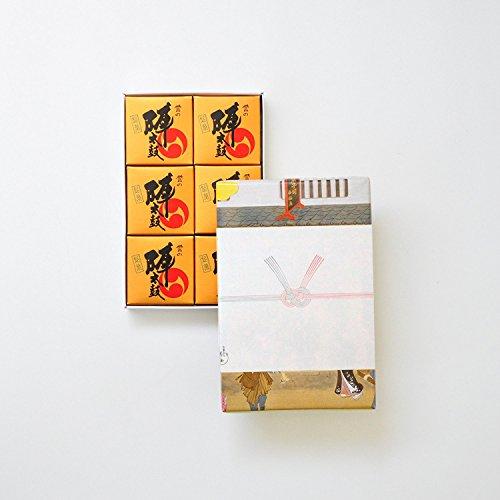 お菓子の香梅 誉の陣太鼓 6個入 紅白結び切り(のしなし) スイーツ 480g