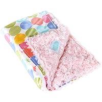 AllyZabba Pastel-Dot Candy Small Baby Blanket 16x14 by AllyZabba
