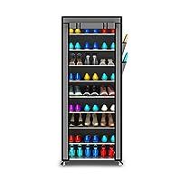 YNN 多層靴ラック靴キャビネット鍛造鉄ストレージ防塵靴ラックアセンブリ10層9グリッド (色 : シルバー しるば゜)