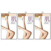 アツギ アスティーグ ATSUGI ASTIGU 肌 レディース パンティ ストッキング 3足セット (日本製 婦人 パンスト無地 素肌感 ゆったりサイズ) JM-L/JJM-L