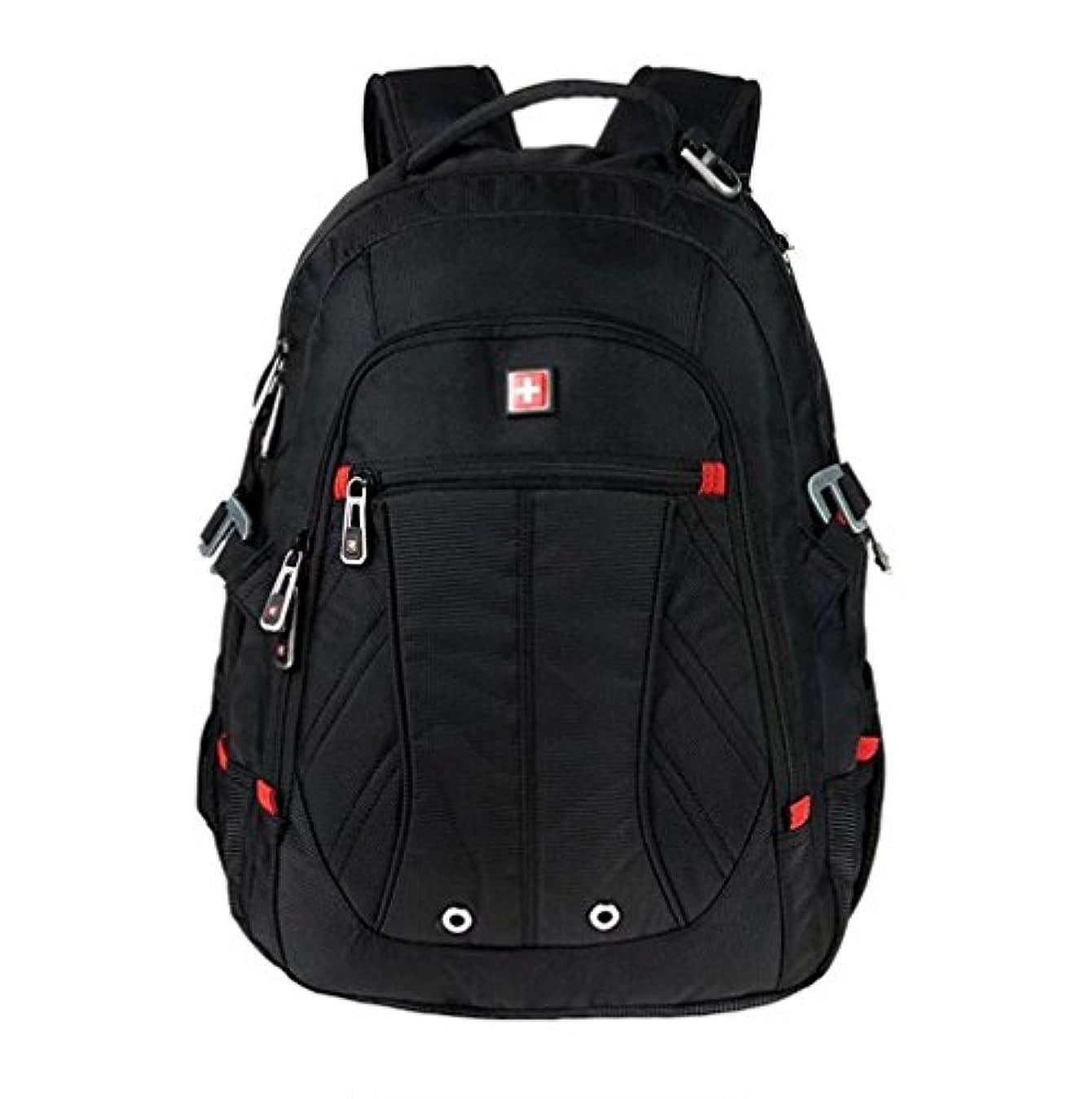 最終シェーバー感染する(スイスウィン)SWISSWIN リュック リュックサック メンズ レディース ノートPC入れ 登山バッグ 旅行バッグ ビジネスバッグ アウトドア sw8110i ブラック