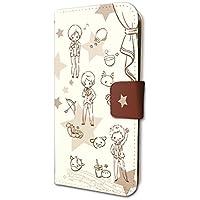 スタミュ 02 ちりばめ team柊(グラフアートデザイン) 手帳型スマホケース iPhone6/6S/7/8兼用