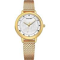 Women's Fashion Watch Quartz Black/Blue/Silver Casual Watch Analog Ladies Colorful Minimalist - Blue Pink Rose Gold