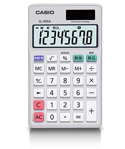 カシオ 電卓 時間・税計算 手帳タイプ 8桁 SL-300A-N