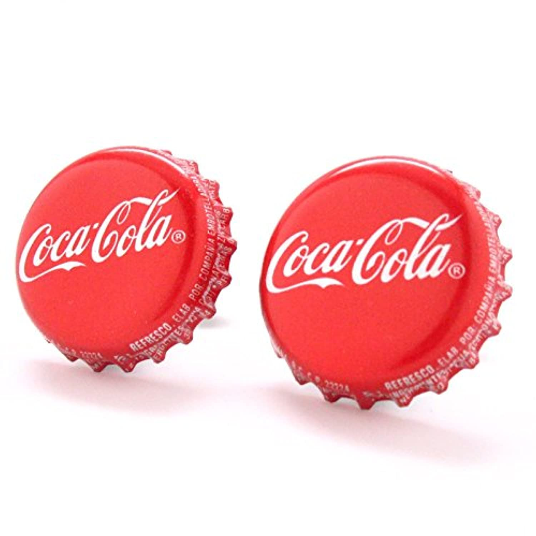 Coke Cufflinks Cuff LinksボトルキャップDrink SodaレッドCoca Cola